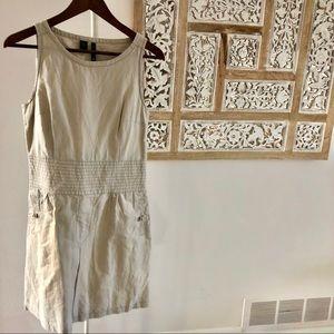 Linen cotton dress w pockets